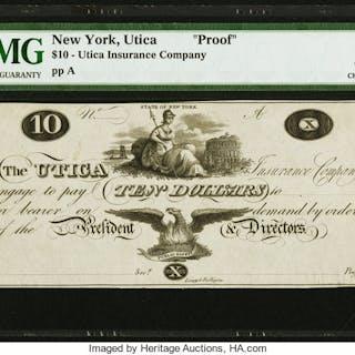 Utica, NY- Utica Insurance Company $10 ND Harris 262 Proof PMG Choice