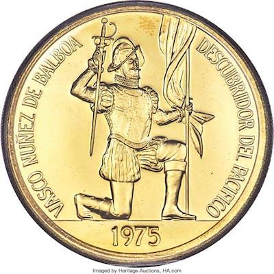 Republic gold 500 Balboas 1975-FM PL64 PCGS,...