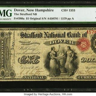 Dover, NH - $1 Original Fr. 380a The Strafford NB Ch. # 1353 PMG Very
