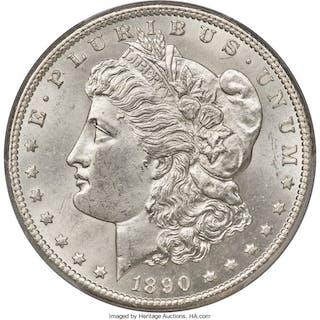 1890-CC $1 VAM-4, Tailbar, MS