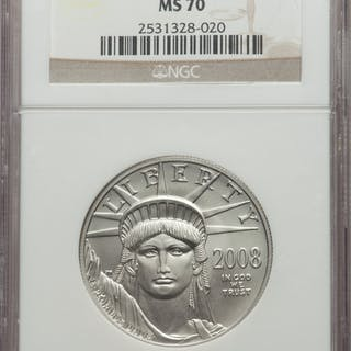 2008-W $100 One-Ounce Platinum Eagle, MS