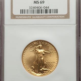 1989 $25 Half-Ounce Gold Eagle, MS