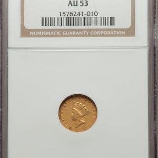 1856-S G$1 FS-501, MS