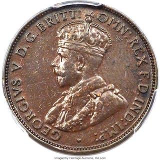 George V 1/2 Penny 1923-(m) XF45 PCGS,...
