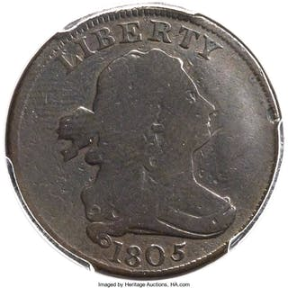 1805 1/2 C Small 5 Stems C-3, BN, MS