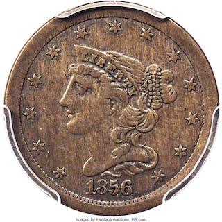 1856 Half Cent, Judd-177, Pollock-205, R.5