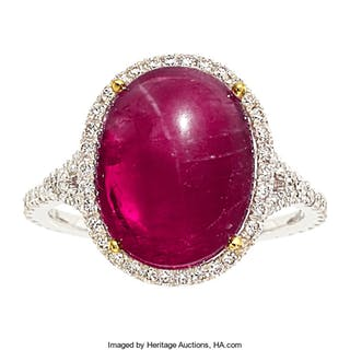 Burma Ruby, Diamond, Gold Ring ...