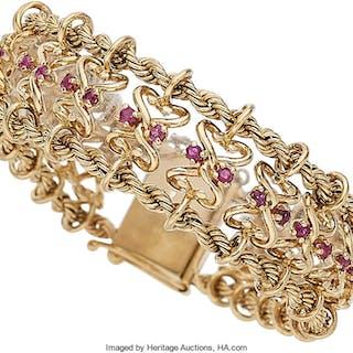 Ruby, Gold Bracelet, Birks ...
