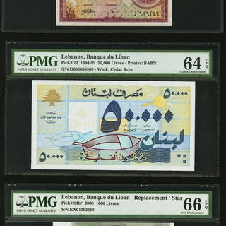 Lebanon Group of Three High Grade Examples. ... (Total: 3 notes)