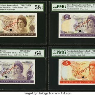 New Zealand Reserve Bank of New Zealand First Decimal Series Complete