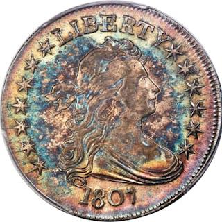 1807 50C Draped Bust  O-103, MS