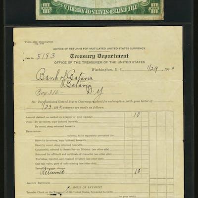 Fr. 2400 $10 1928 Gold Certificate. PMG Fine 12. ...