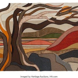 Helen Webber (American, 20th Century) Sierra Ridge, 1979 Wool tapestry