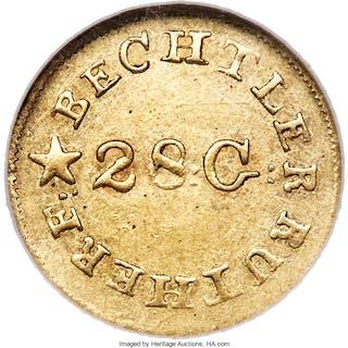 1837-42 C. Bechtler Dollar, N Reversed