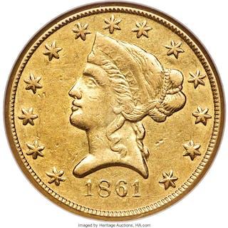 1861 Clark, Gruber & Co. Ten Dollar