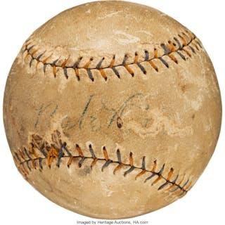 1927-29 Babe Ruth & Lou Gehrig Multi-Signed Baseball.