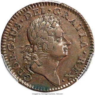 1724 Hibernia 1/2P DEI above Head, MS, BN