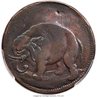 London Elephant Token, LON DON, MS, BN