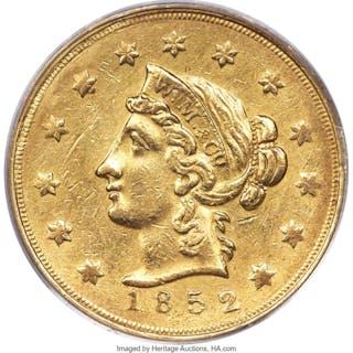 1852 $10 Wass Molitor, Large Head, MS