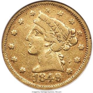1849 $5 Moffat & Co., MS