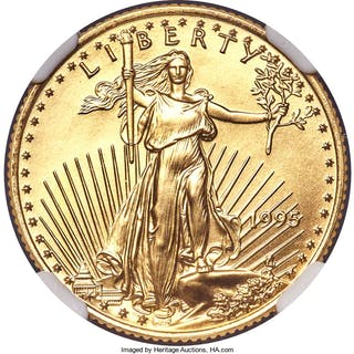 1995 $10 Quarter-Ounce Gold Eagle, MS