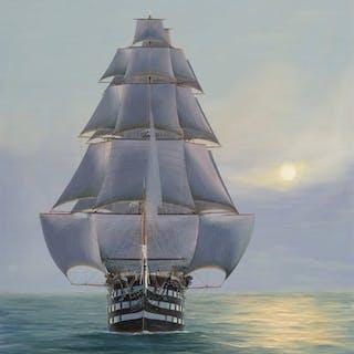 Hans Skálagard (American, b. 1923) Pennslyvania-120 Gun Ship of the