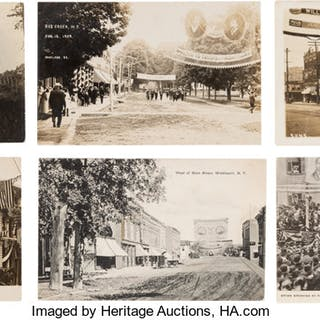 Hughes & Fairbanks et al: Postcards Depicting Jugate Street Banners. ...