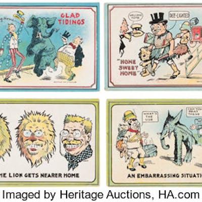 Theodore Roosevelt: Safari-Theme 1910 Postcards. ...
