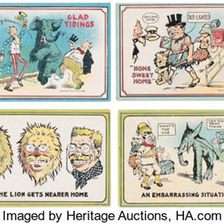 Theodore Roosevelt: Safari-Theme 1910 Postcards. ...