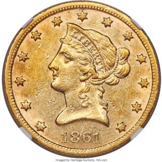 1861-S $10