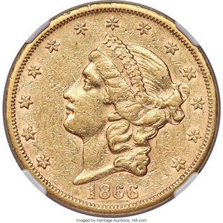 1866-S $20 NO MOTTO