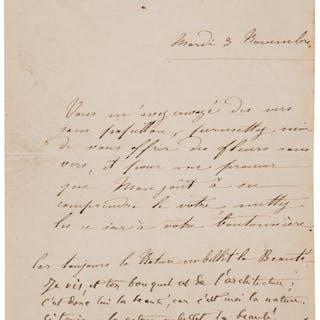 Charles Baudelaire. Autograph Letter....