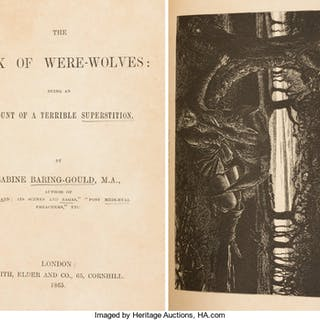 Sabine Baring-Gould. The Book of Were-Wolves. London: 1865. First edition. ...