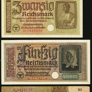 Germany Reichsbank Group Lot of 7 Examples Very Fine-Extremely Fine-Crisp