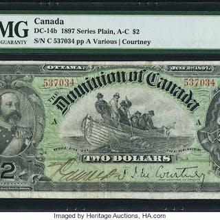Canada Dominion of Canada $2 2.7.1897 DC-14b PMG Very Fine 20. ...