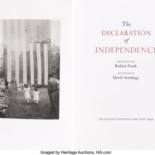 [Limited Editions Club]. The Declaration of Independence. Photograph