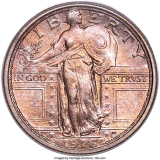 1916 25C STANDING, FH