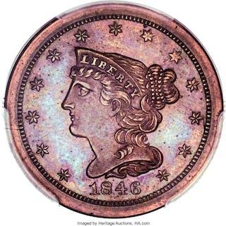 1846 1/2 C Reverse of 1840, PR, BN