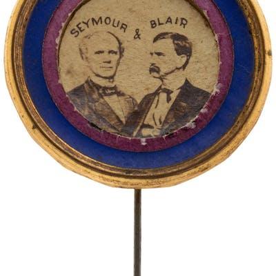 Seymour & Blair: Colorful and Distinctive Cardboard Jugate Stickpin. ...