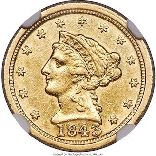 1843-C $2 1/2 Large Date, Plain 4