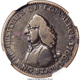 1766 Pitt Farthing, BN