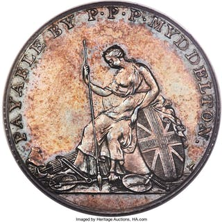 1796 Myddelton Token, Silver