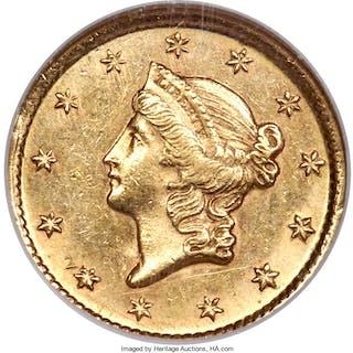 1854-D G$1 MS