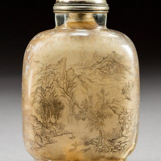 A Chinese Inside-Painted Rock Crystal Snuff Bottle Attributed to Ma