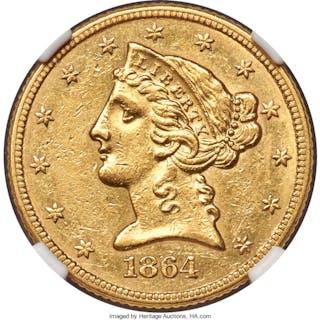 1864 $5