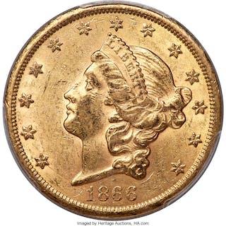 1866-S $20 MOTTO