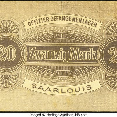 Germany Prisoner of War Saarlouis Extremely Fine. ...