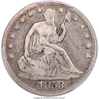 1853-O 50C No Arrows , MS