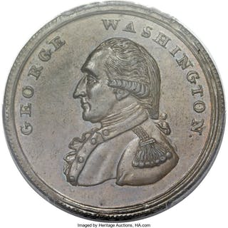 Washington Washington Liberty & Security Penny, Corded Rim, BN