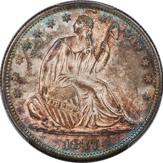 1877-S 50C, WB-101, MS
